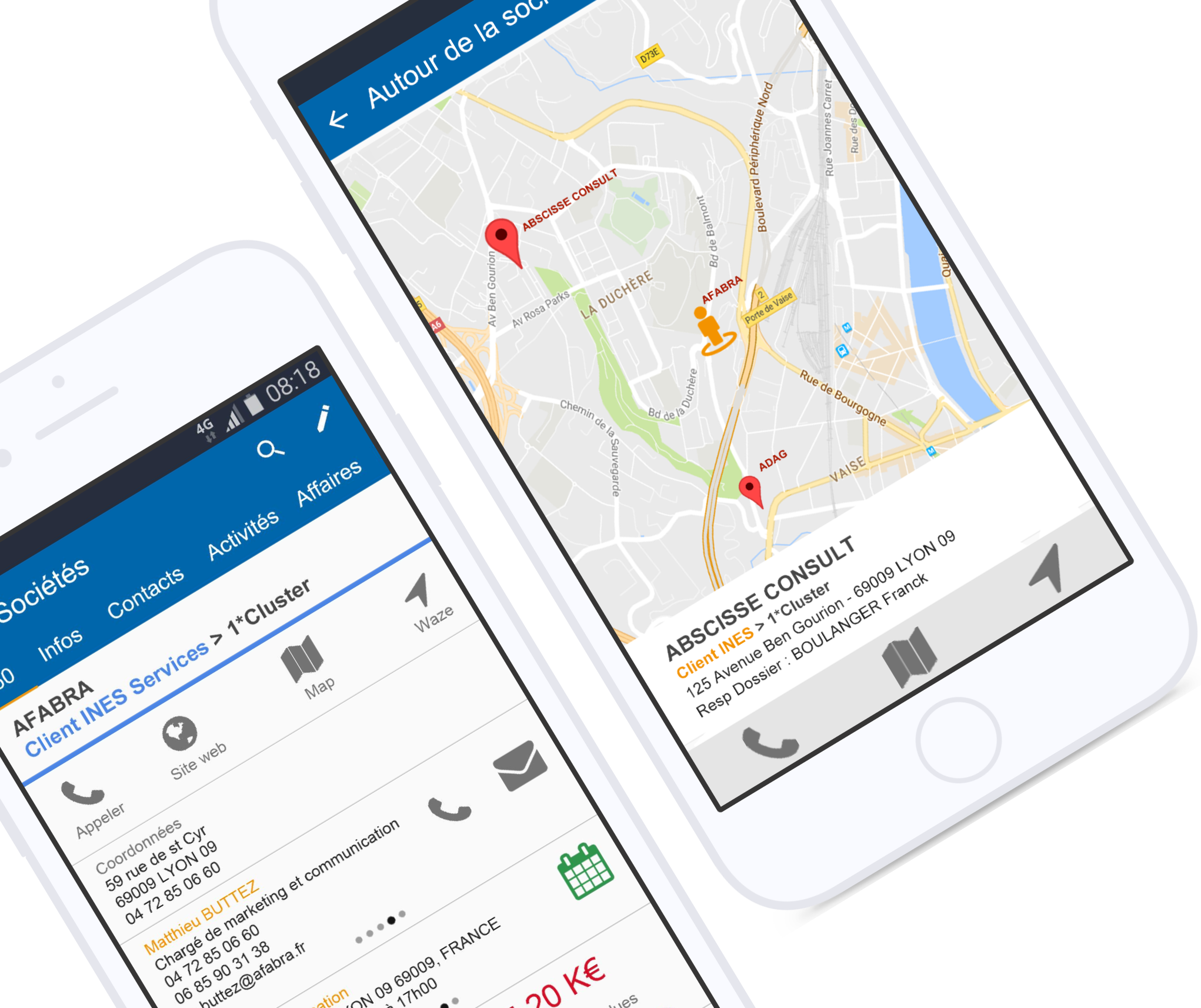 INES CRM mobile application